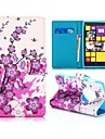 hübsche Pflaume blüht Brieftasche Stil magnetischen Standfuß TPU und PU-Leder Etui für Nokia Lumia 1020 (verschiedene Farben)