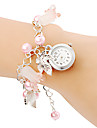Женские Модные часы Часы-браслет Кварцевый Группа Жемчуг Розовый