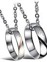 Муж. Женский Мода Ожерелья с подвесками Титановая сталь Ожерелья с подвесками , Свадьба Для вечеринок Повседневные