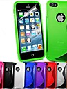 s-forme TPU doux pour iPhone 5 / 5s (couleurs assorties)