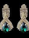 Women's Drop Earrings Costume Jewelry Crystal Glass Jewelry For Wedding Party Daily Casual