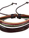 étnica como presentes 20 centímetros cor aleatória bracelete das mulheres de couro de couro (multicolor) (1 pc)