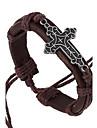 Homme Charmes pour Bracelets Bracelets Cuir Alliage Original Mode Forme de Croix Bijoux Bijoux 1pc