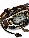 Kadın\'s Bilezik Saat Quartz Siyah Gündelik Saatler Bayan İhtişam Bohem Moda - Kahverengi