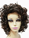 Women Synthetic Wig Curly Dark Brown Halloween Wig Carnival Wig Costume Wig