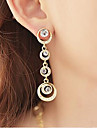 Femme Zircon Strass Boucles d\'oreille goutte Boucles d\'oreille gitane - Or Forme de Cercle Des boucles d\'oreilles Pour