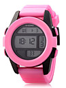 Dame Sportsklokke Digital Watch LED Vannavvisende Quartz Digital PU Band Svart Hvit Blaa Groenn Rosa