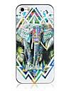 Для Кейс для iPhone 5 Чехлы панели С узором Задняя крышка Кейс для Слон Твердый PC для iPhone SE/5s iPhone 5