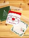 10PCS Food Self-adhesive Package for Christmas Tree Baking Party Bag (Random Type)