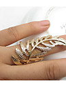 Fashion Golden Leaf Shape Statement Ring(1 Pc)