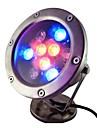 9W 9 LEDs IP68 wasserdichten Outdoor-RGB-LED-Unterwasserbeleuchtung (ac12v)