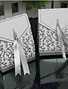 caixa lureme moda dobrar cartao cobre doces (prata, ouro) (100 unidades)