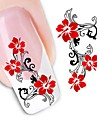 1pcs Water Transfer Sticker 3D Nail Stickers Nail Stamping Template Daily Flower Fashion Wedding High Quality