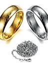 senhor dos aneis anel de aco de tungstenio escritura (enviar colar)
