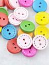красочный альбом scraft швейные DIY Деревянные кнопки (10 шт случайный цвет)