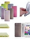 ultra-mince de 0,5 mm TPU doux cas de retour de couverture pour iphone 6 / 6s (couleurs assorties)
