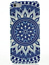 Синий и Футляр белый фарфор Шаблон для iPhone5/5S