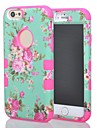 3 in 1 Hybrid Elegant Penoy Flower Pattern Hard Soft Silicone Back Case Cover Fit for iPhone 6(Assorted colors)