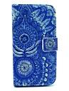 azul flor padrao caso de corpo inteiro para i9500 samsung galaxy s4