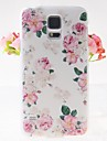 Pink Rose Pattern Embossment Back Case for Samsung Galaxy S5 I9600
