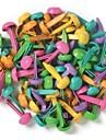 100шт / установить круглые металлические записки барды смешивают цвета