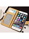 Luxurious Fashion PU Leather Full Body Cover with Card Slot and Stand for iPhone 6(Assorted Colors)