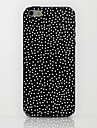 Black Dots Pattern hard Case for iPhone 6