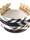 1pcs mode doux rayures diagonales plaid bandeau de tissu (couleurs assorties)