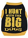 Cat Dog Shirt / T-Shirt Dog Clothes Breathable Cute Casual/Daily Letter & Number Black/Orange Black/Yellow Costume For Pets