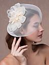 Mulheres Organza Capacete-Casamento Fascinador Flores Chapeus