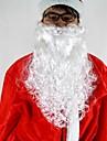 """16 """"длинный белый роскошный вьющиеся Санта-Клауса борода материал С."""