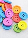 soild χρώμα λεύκωμα scraft ράψιμο diy ξύλινα κουμπιά (10 τεμ τυχαία χρώμα)
