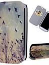 motif de l'oiseau libre cuir PU cas de tout le corps avec support et fente pour carte pour les i9300 Samsung Galaxy S