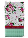 Peony Flower Design PU Leather Case Cover with Stand for Nokia Lumia 625 N625