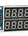 """5v digital de 0.36 """"modulo de display de sete segmentos de 4 digitos de 2 canais"""
