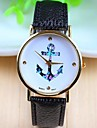 Женские Модные часы Кварцевый PU Группа Черный / Зеленый бренд-