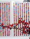 3sheet / комплект 225pcs / лист 4 мм горный хрусталь самоклеящаяся скрапбукинга наклейки