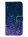 아이폰 5C에 대한 코코 fun® 밤 반딧불 패턴 PU 가죽 전신 화면 보호기, 스타일러스 케이스와 스탠드