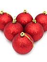 קישוטי כדורי ציפוי הנצנצים 6cm נוחי 2pcs חג המולד (צבע שונים)