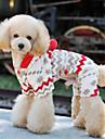 Cães Macacão Beje Roupas para Cães Inverno Primavera/Outono Floco de Neve Fofo Ano Novo