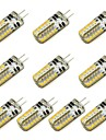 10 stuks 3 W 260 lm G4 2-pins LED-lampen 48 LED-kralen SMD 3014 Warm wit / Koel wit 12 V / RoHs