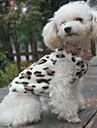 Кошка Собака Толстовка Пижамы Одежда для собак На каждый день Леопардовый принт Черный