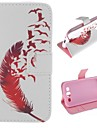Red Feather Design PU Leather Full Body Protective Case with Stand for Samsung Galaxy S3 I9300