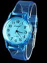 Mulheres Relógio de Moda Quartz Borracha Banda Relógio de Pulso