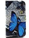 나비 패턴 PU 가죽 모토로라 모토 G에 대한 스탠드 전신 경우