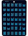 1 pcs Πλάκα σφράγισης Πρότυπο Lovely τέχνη νυχιών Μανικιούρ Πεντικιούρ Φρούτο / Λουλούδι / Αφηρημένο Καθημερινά / Κινούμενα σχέδια / σφράγιση Plate / Μεταλλικό