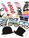 51 pcs papier carte photomaton props partie faveur d\'amusement (verres & chapeau & moustache & chapeau)