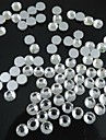 200PCS Transparent Flatback Resin Gems 6mm Handmade DIY Craft Material/Clothing Accessories
