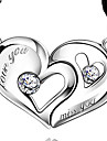 925 Sterling Silver Heart Heart Kiss Lovers Pendant (A Pair Of Selling)