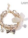 Femme Charmes pour Bracelets Tissu Alliage Forme de Noeud Bijoux Regalos de Navidad Mariage